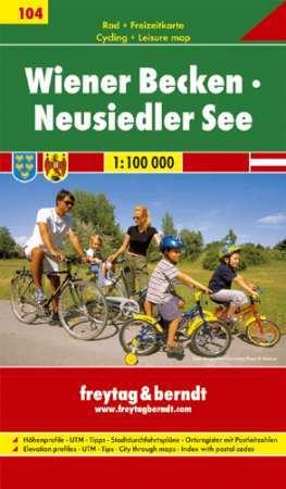 Vienna Basin & Neusiedler See, cycling map (RK 104) - Freytag-Berndt