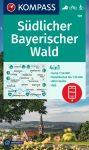 Bajor-erdő (dél) turistatérkép (WK 197) - Kompass