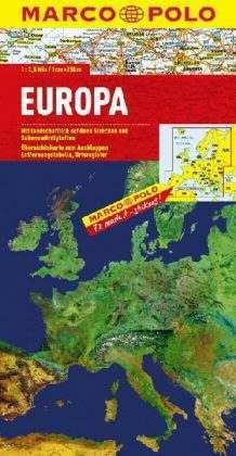 Európa domborzati térkép - Marco Polo