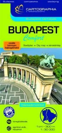 Budapest Comfort térkép (laminált)