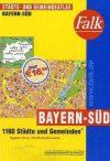 Dél-Bajorország minden városa atlasz - Falk