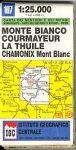 Mont Blanc - Courmayeur - Chamonix - La Thuile térkép (No 107) - IGC