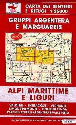 Argentera NP - Valle Pesio - Colle di Tenda térkép (No 109/115) - Multigraphic