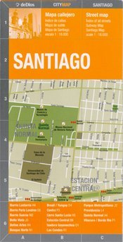 Santiago térkép - de Dios Editores