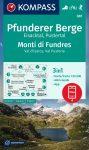 Monti di Fundres turistatérkép (WK 081) - Kompass