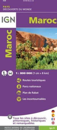 Marokkó térkép - IGN
