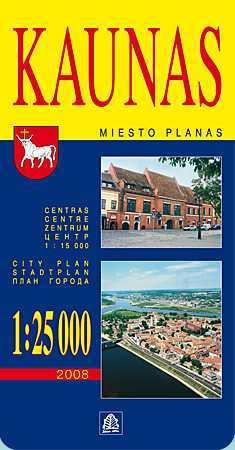 Kaunas térkép - Jana Seta