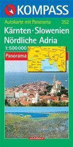 Karintia / Szlovénia / Észak-Adria panorámatérkép - Kompass AK 352