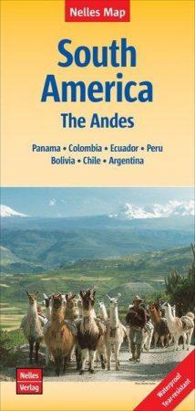 Dél-Amerika: az Andok térkép - Nelles