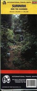 Suriname és a Guayanák térkép - ITM