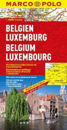 Belgium és Luxemburg térkép - Marco Polo