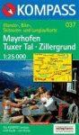 Mayrhofen, Tuxer Tal, Zillergrund turistatérkép (WK 037) - Kompass