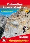 Dolomites, via ferrata guide in German - Rother