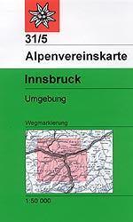 Innsbruck, Umgebung - Alpenvereinskarte 31/5