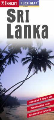 Sri Lanka laminált térkép - Insight