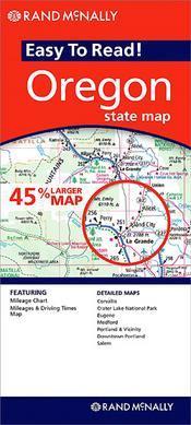 Oregon (Easy to Read) térkép - Rand McNally