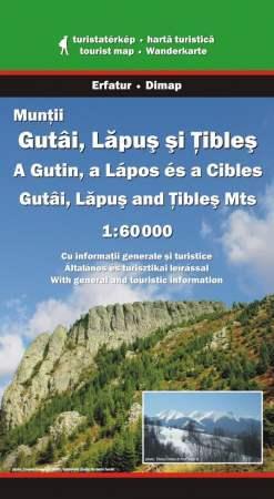 Gutâi, Lăpuş and Ţibleş Mountains, hiking map - Dimap & Erfatur