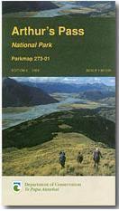 Arthur's Pass National Park turistatérkép - Dep. of Conservation