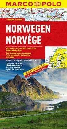 Norvégia térkép - Marco Polo