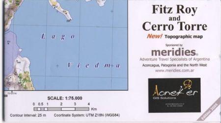 Fitz Roy, Cerro Torre térkép (3) - Aoneker