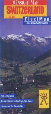 Svájc laminált térkép - Insight