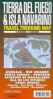 Tierra del Fuego and Isla Navarino térkép - Zagier y Urruty