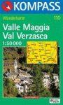 Valle Maggia, Val Verzasca turistatérkép (WK 110) - Kompass