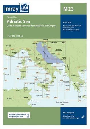 Adriatic Sea Passage Chart M23 - Imray