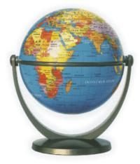 Csodagömb (10 cm) - politikai földgömb