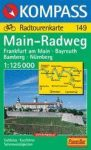 Main-Radweg : Frankfurt a.Main - Bayreuth - Bamberg - Nürnberg - Kompass RWK 149