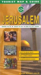 Jeruzsálem térkép - Mapa Publishers