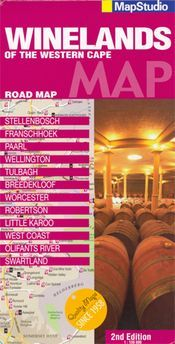 Winelands of Western Cape térkép - Map Studio
