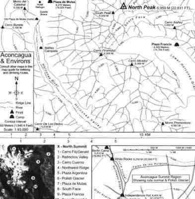 Aconcagua: Summit of the Americas térkép - SAEC