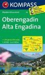 Oberengadin (Alta Engadina), hiking map (WK 99) - Kompass