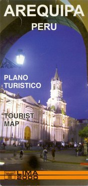 Arequipa várostérkép - Editorial Lima 2000