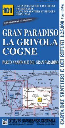 Gran Paradiso, La Grivola, Cogne turistatérkép (101) - IGC