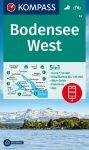 Bodensee (nyugat) turistatérkép (WK 1a) - Kompass