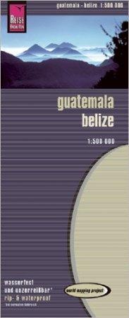 Guatemala, Belize térkép - Reise Know-How
