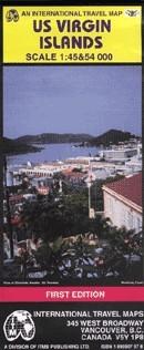 Amerikai Virgin-szigetek térkép - ITM