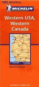 Nyugat-USA, Nyugat-Kanada - Michelin 585