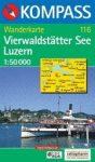 Vierwaldstätter See, Luzern turistatérkép (WK 116) - Kompass