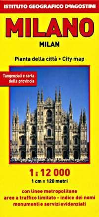 Milánó térkép - De Agostini