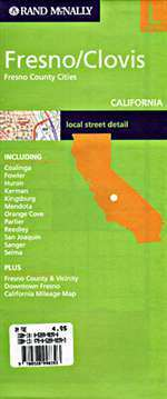 Fresno és Clovis (Kalifornia) várostérkép - Rand McNally