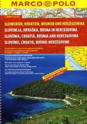 Szlovénia, Horvátország, Bosznia-Hercegovina atlasz - Marco Polo