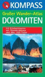 Dolomiten Großer Wander Atlas - Kompass K 606