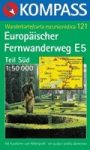 E5 európai turistaút (dél) turistatérkép (WK 121) - Kompass
