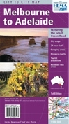 Melbourne to Adelaide (The Great Ocean Road) Hema City to City Road Maps - térkép