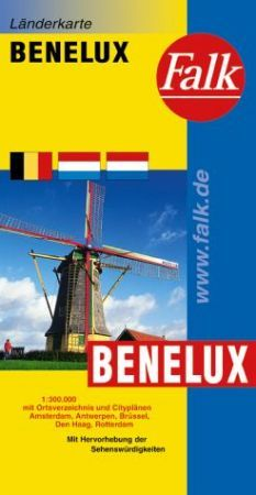 Benelux autótérkép - Falk