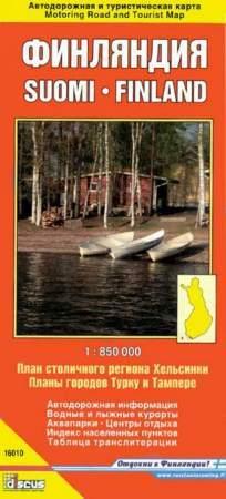 Finnország térkép - Discus
