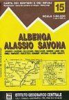 Albenga, Alassio, Savona térkép - IGC